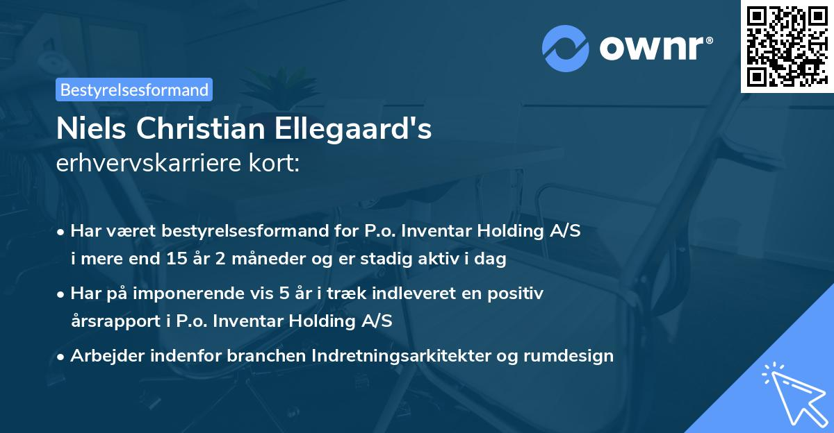 Niels Christian Ellegaard's erhvervskarriere kort