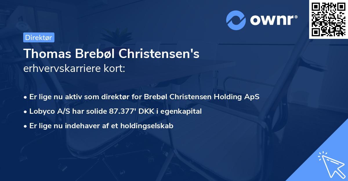 Thomas Brebøl Christensen's erhvervskarriere kort