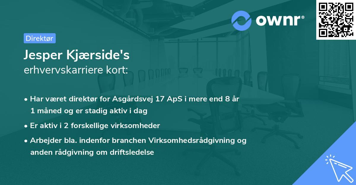 Jesper Kjærside's erhvervskarriere kort