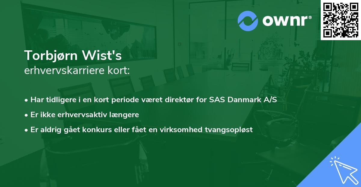Torbjørn Wist's erhvervskarriere kort