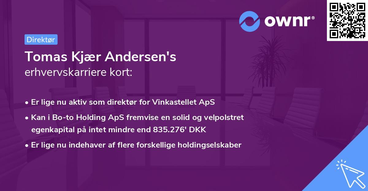 Tomas Kjær Andersen's erhvervskarriere kort