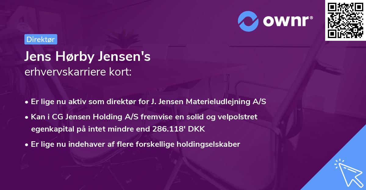 Jens Hørby Jensen's erhvervskarriere kort