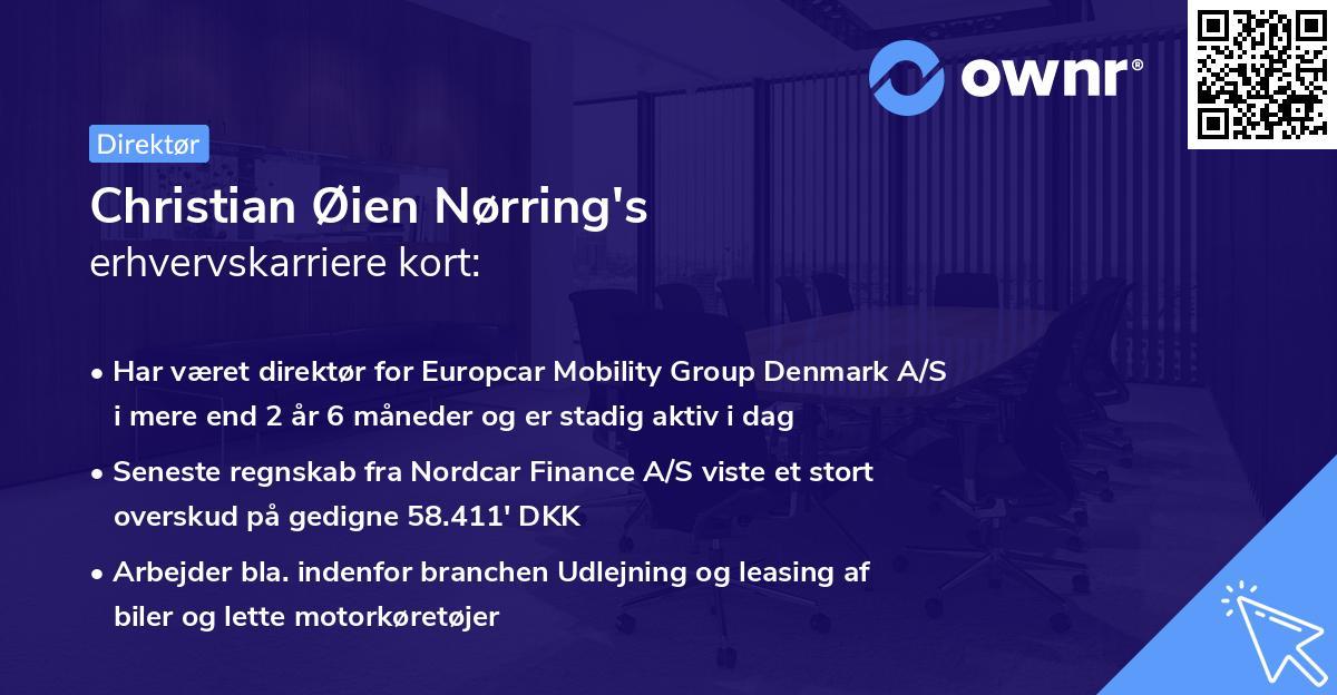 Christian Øien Nørring's erhvervskarriere kort