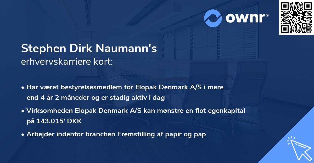 Stephen Dirk Naumann's erhvervskarriere kort