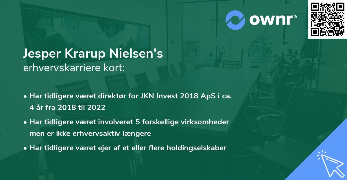 Jesper Krarup Nielsen's erhvervskarriere kort