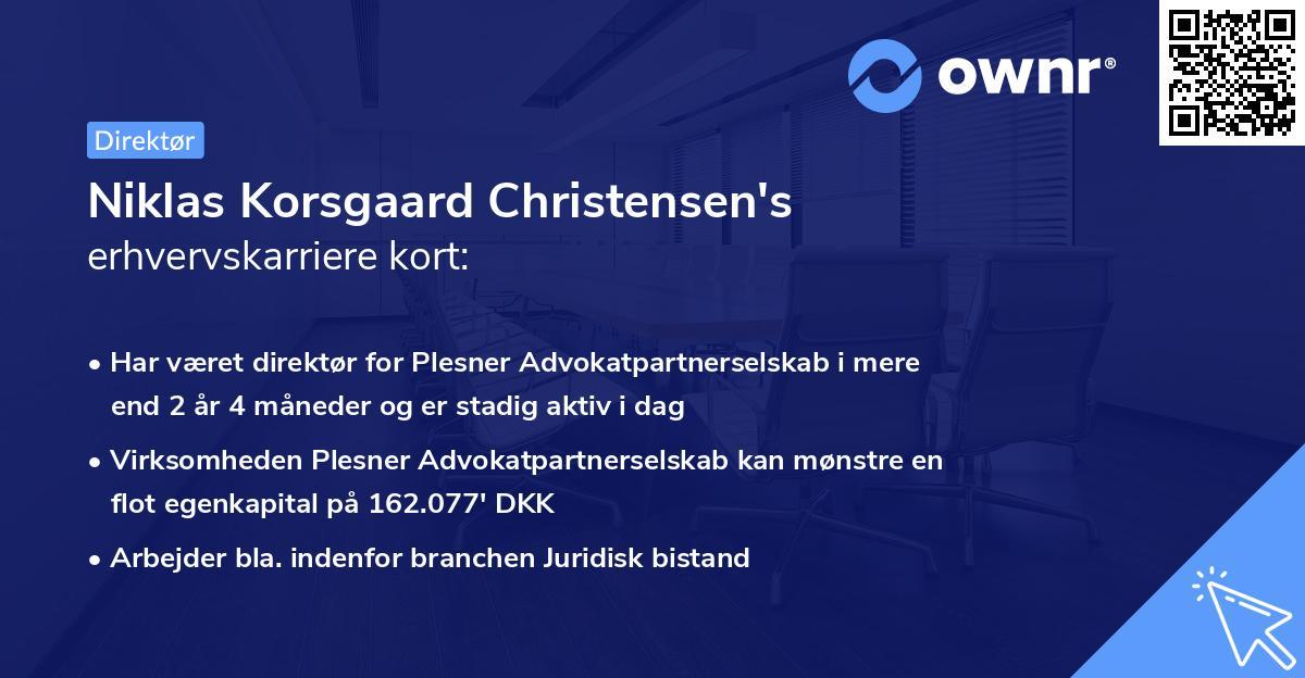 Niklas Korsgaard Christensen's erhvervskarriere kort