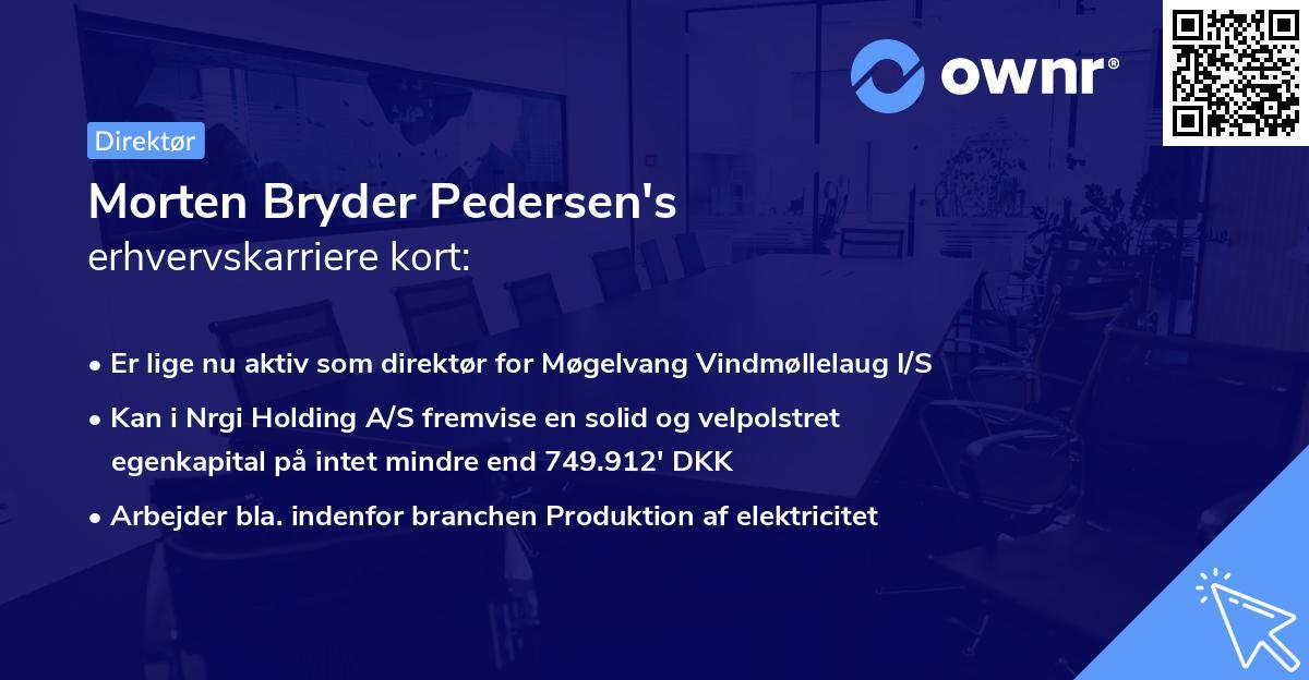 Morten Bryder Pedersen's erhvervskarriere kort