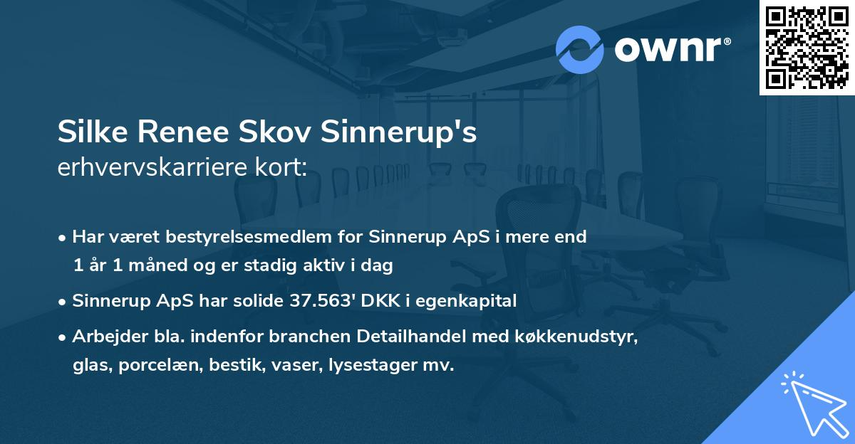 Silke Renee Skov Sinnerup's erhvervskarriere kort
