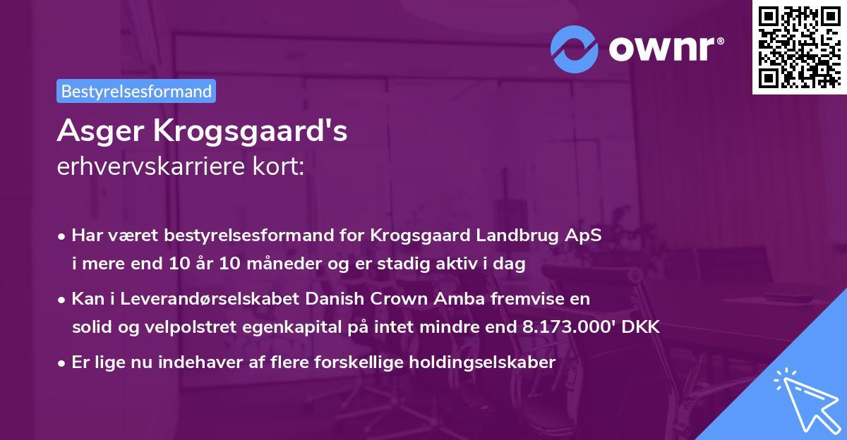 Asger Krogsgaard's erhvervskarriere kort