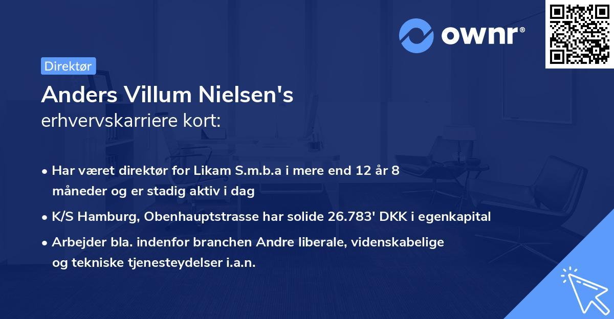 Anders Villum Nielsen's erhvervskarriere kort