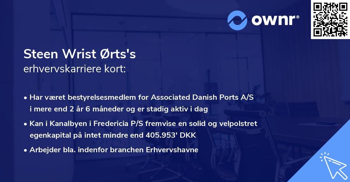 Steen Wrist Ørts's erhvervskarriere kort