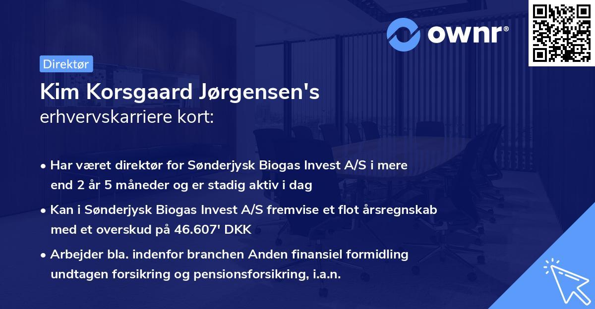 Kim Korsgaard Jørgensen's erhvervskarriere kort