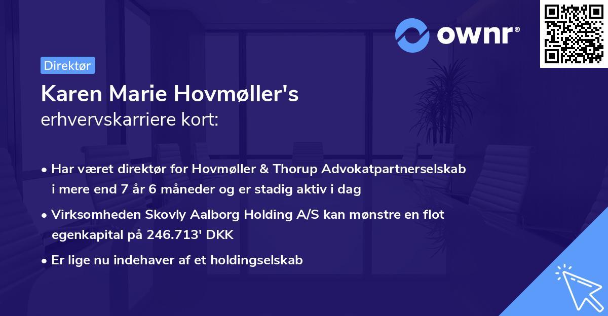 Karen Marie Hovmøller's erhvervskarriere kort