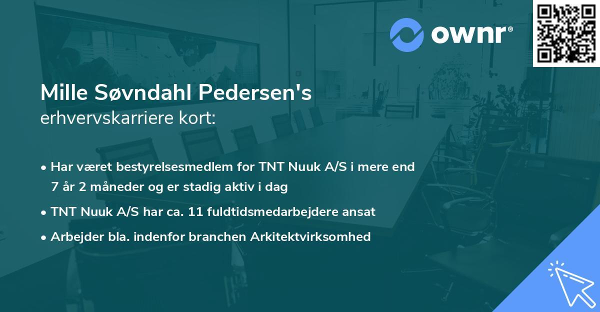 Mille Søvndahl Pedersen's erhvervskarriere kort
