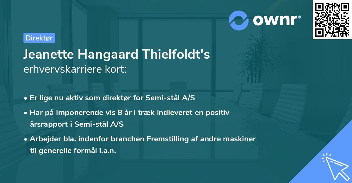 Jeanette Hangaard Thielfoldt's erhvervskarriere kort