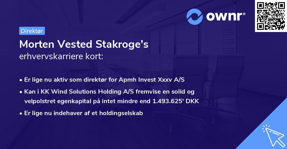 Morten Stakroge's erhvervskarriere kort