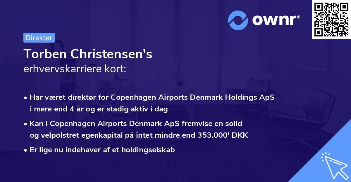 Torben Christensen's erhvervskarriere kort