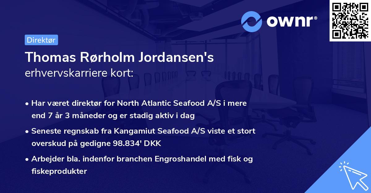 Thomas Rørholm Jordansen's erhvervskarriere kort