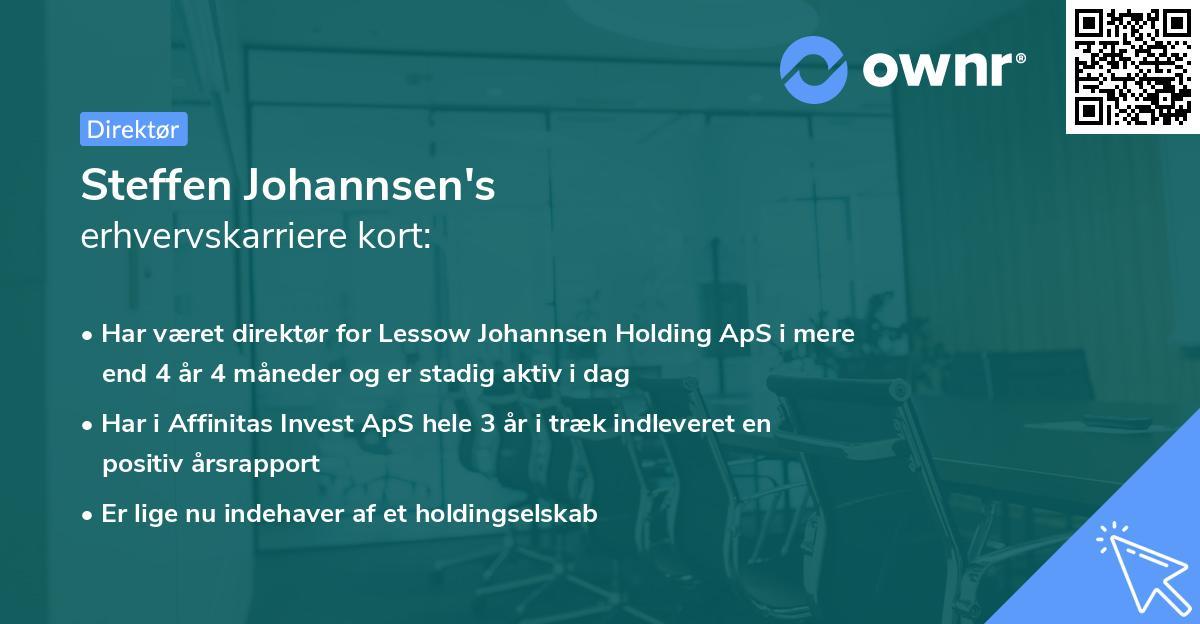Steffen Johannsen's erhvervskarriere kort