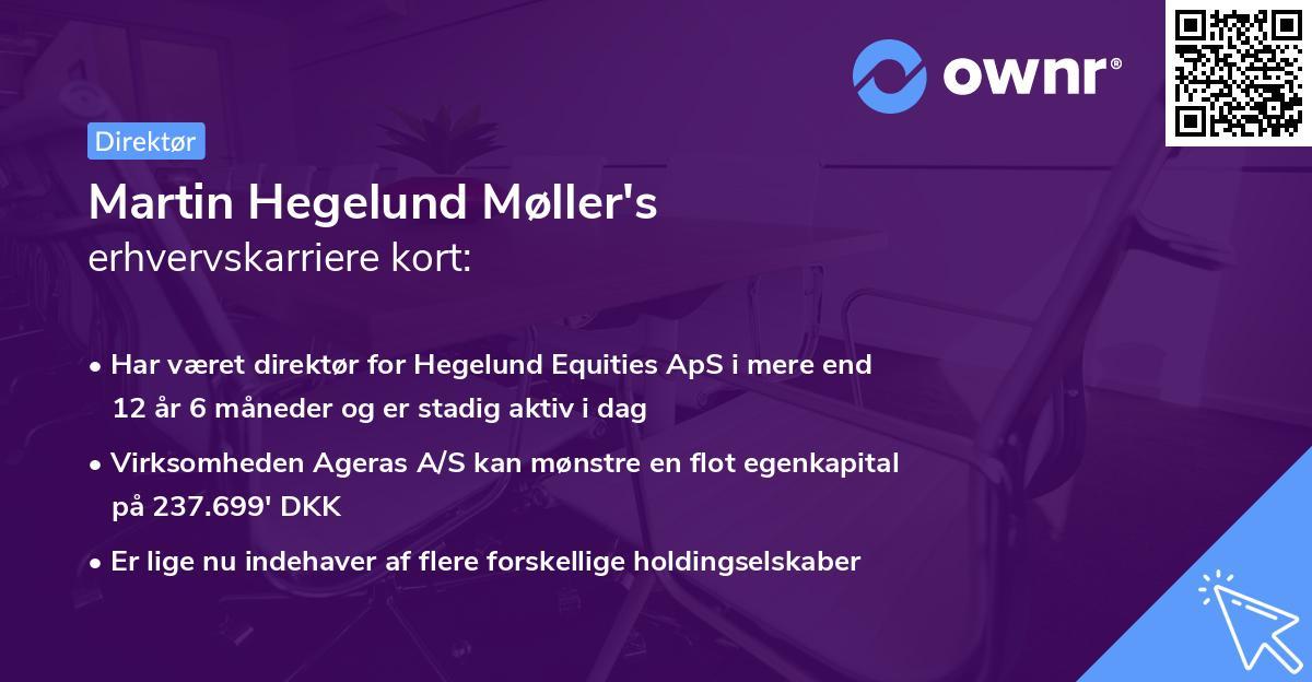 Martin Hegelund Møller's erhvervskarriere kort