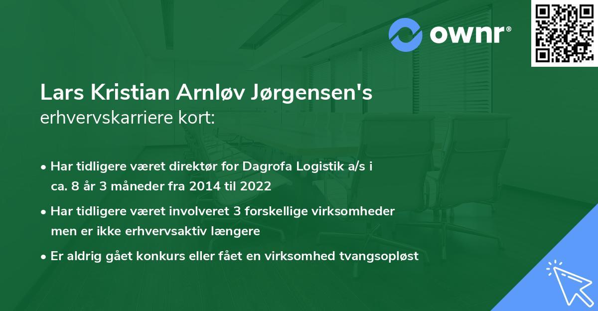 Lars Kristian Arnløv Jørgensen's erhvervskarriere kort