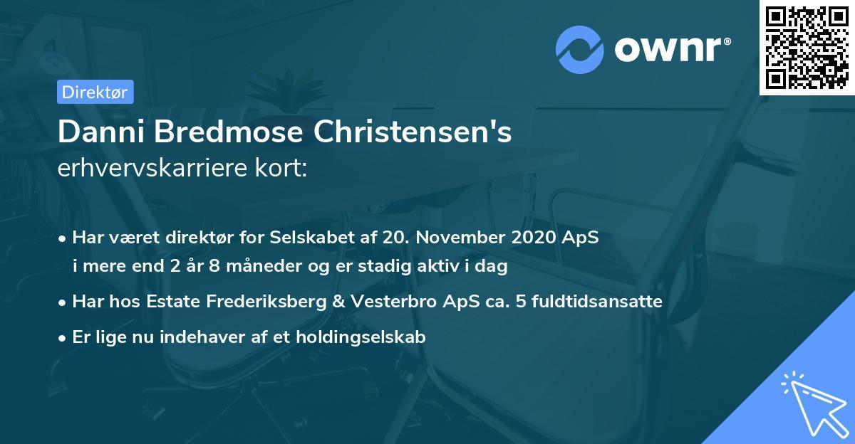 Danni Bredmose Christensen's erhvervskarriere kort
