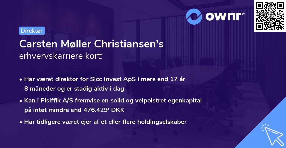 Carsten Møller Christiansen's erhvervskarriere kort