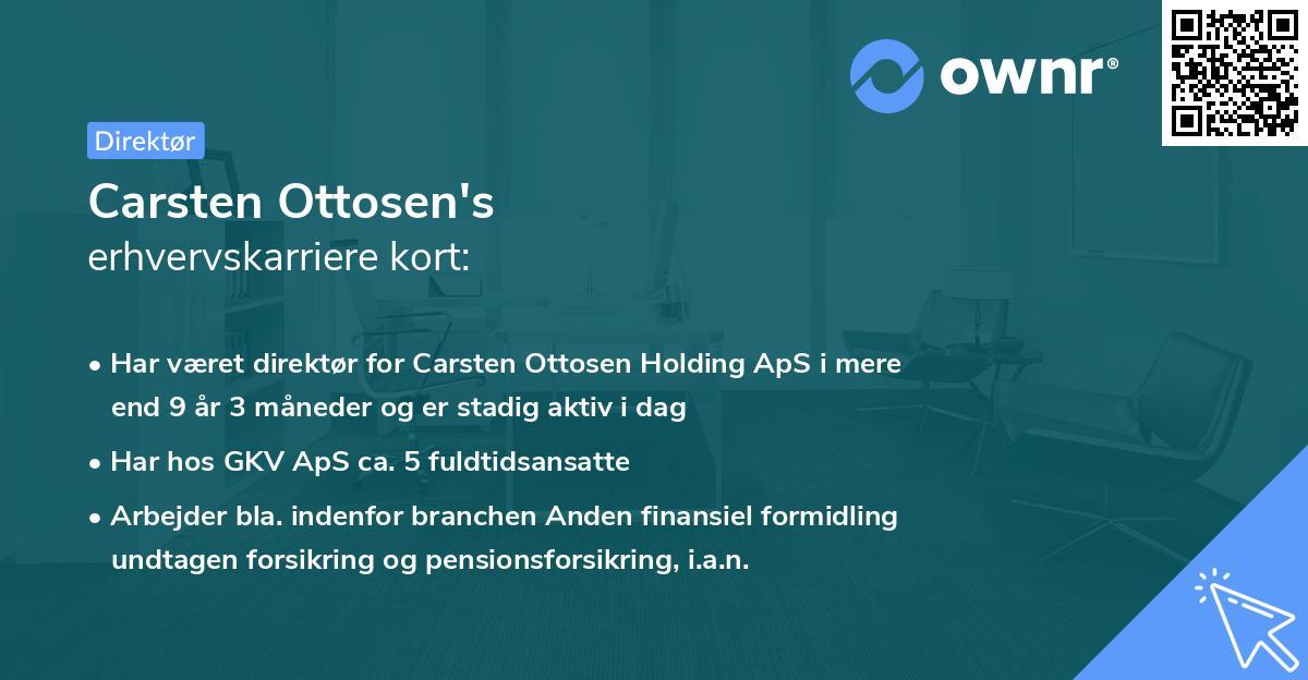 Carsten Ottosen's erhvervskarriere kort