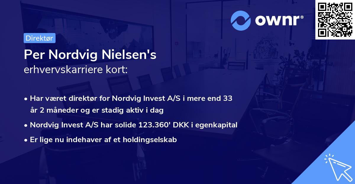 Per Nordvig Nielsen's erhvervskarriere kort