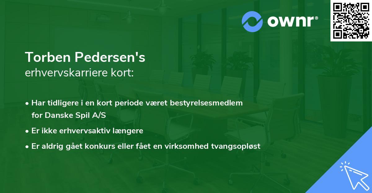 Torben Pedersen's erhvervskarriere kort
