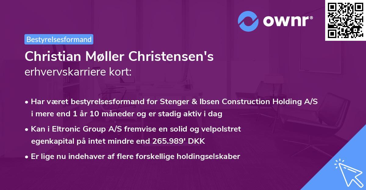 Christian Møller Christensen's erhvervskarriere kort