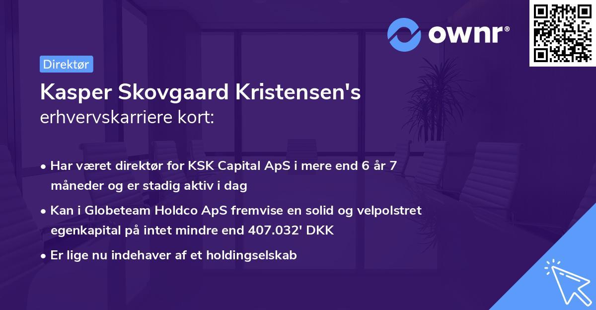 Kasper Skovgaard Kristensen's erhvervskarriere kort