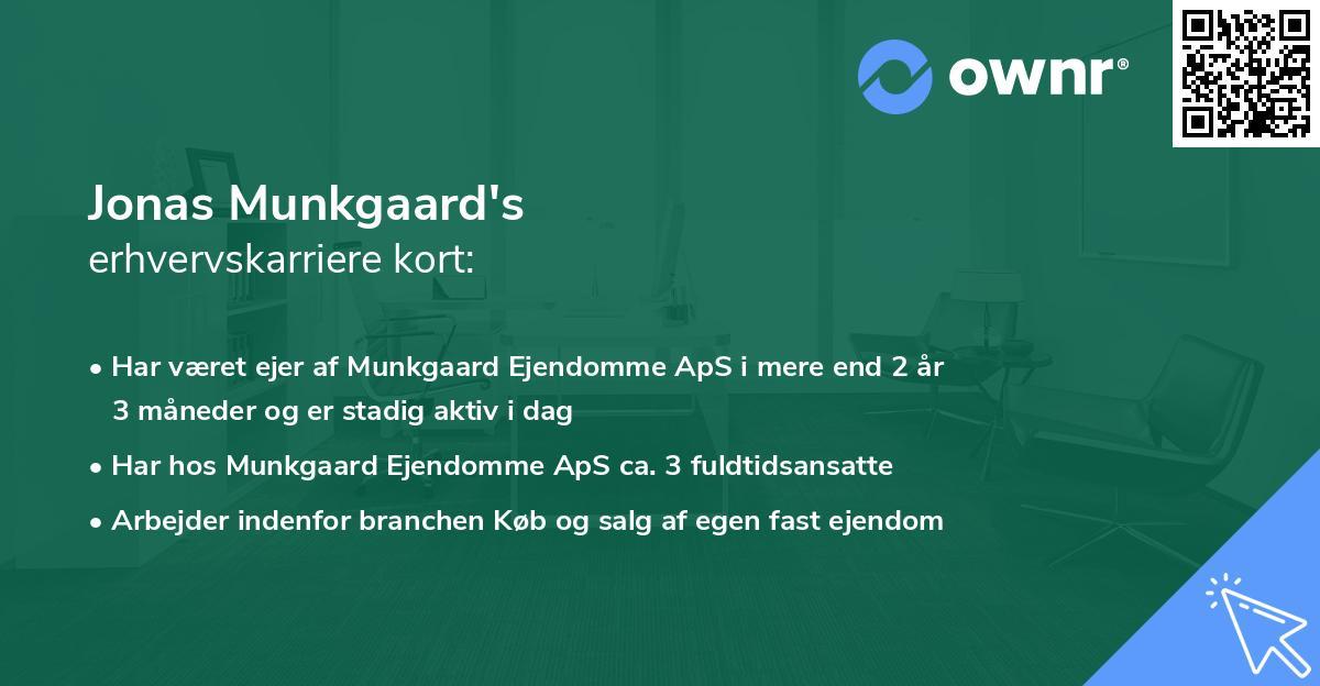Jonas Munkgaard's erhvervskarriere kort