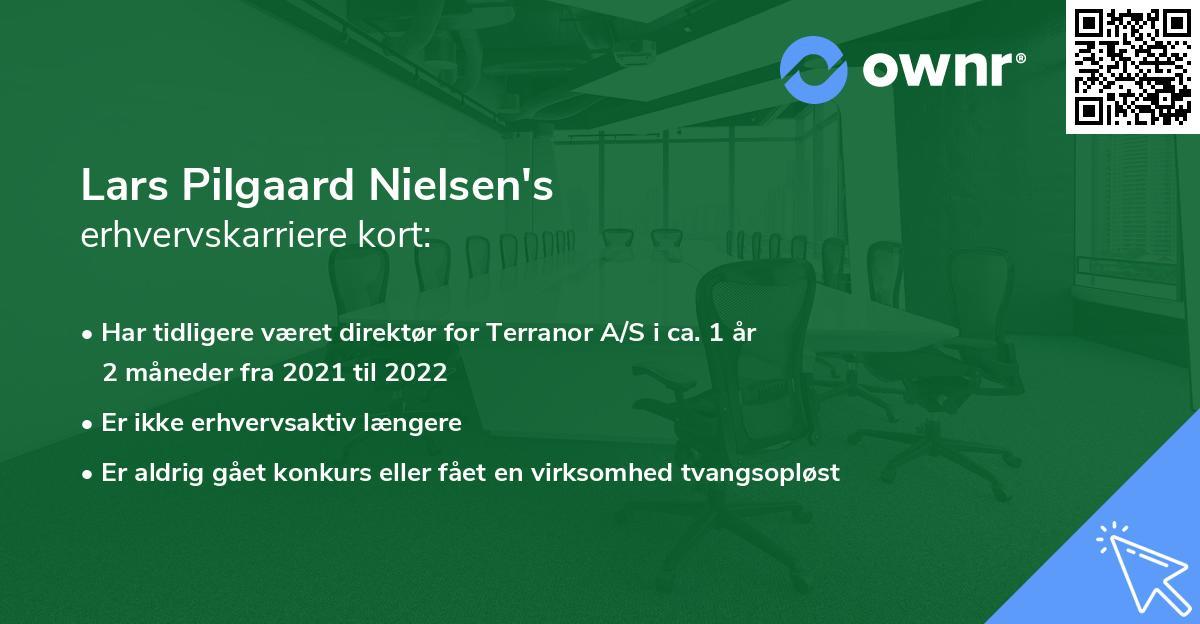 Lars Pilgaard Nielsen's erhvervskarriere kort