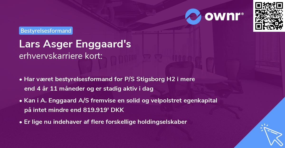 Lars Asger Enggaard's erhvervskarriere kort