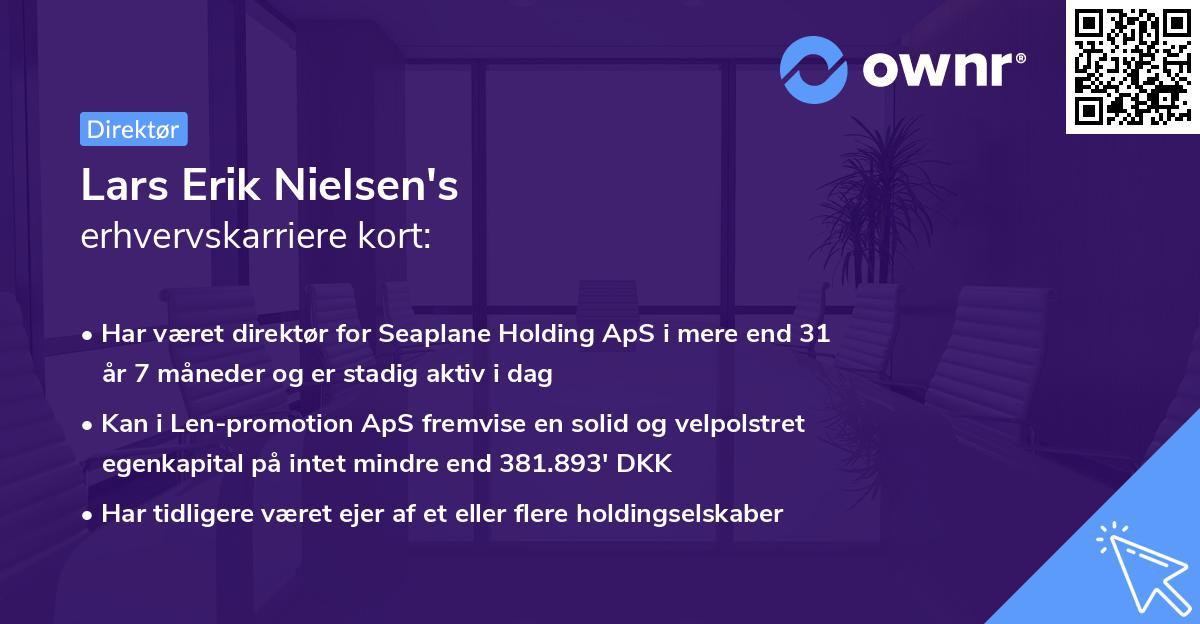 Lars Erik Nielsen's erhvervskarriere kort