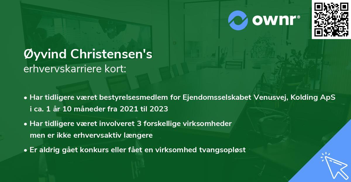 Øyvind Christensen's erhvervskarriere kort