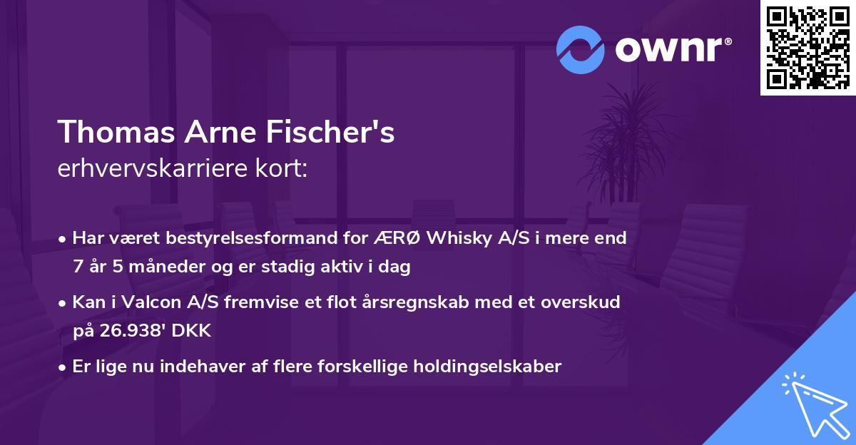 Thomas Arne Fischer's erhvervskarriere kort
