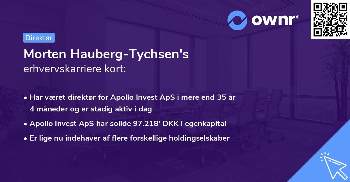 Morten Hauberg-Tychsen's erhvervskarriere kort