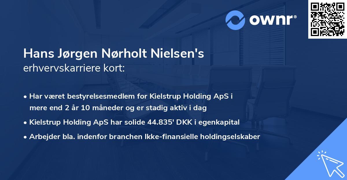 Hans Jørgen Nørholt Nielsen's erhvervskarriere kort