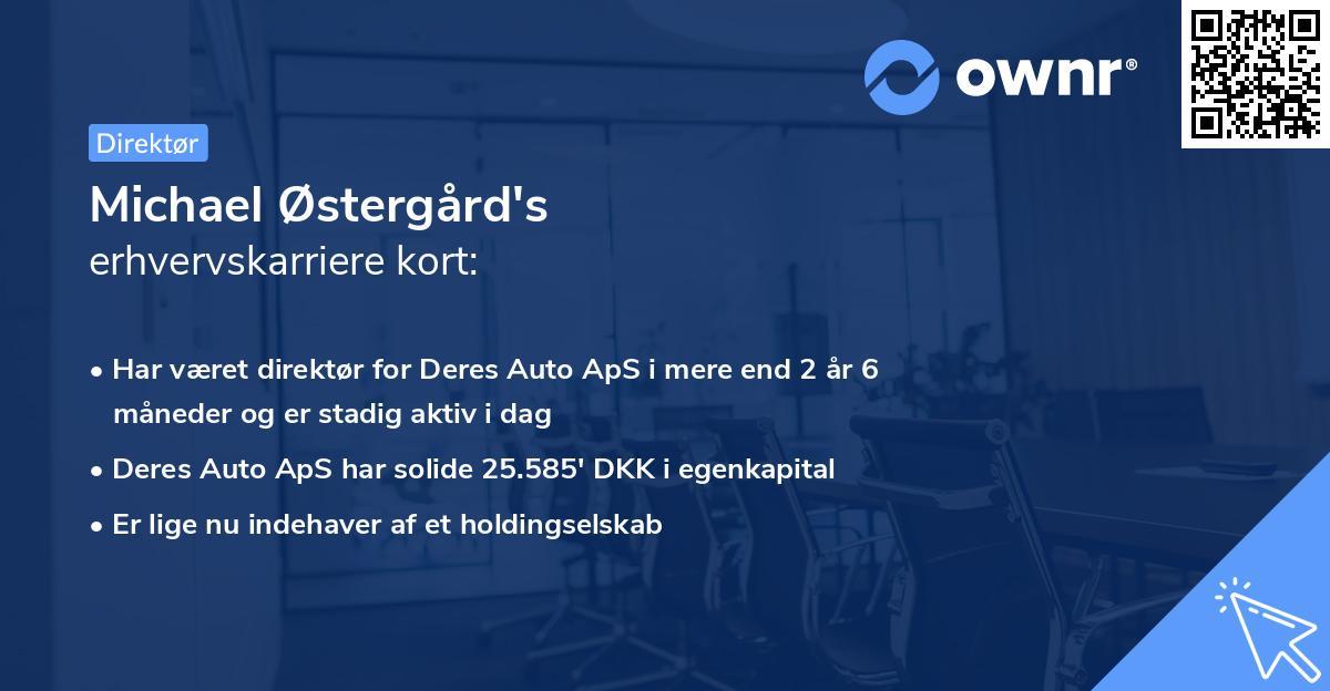 Michael Østergård's erhvervskarriere kort
