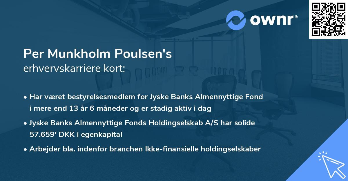 Per Munkholm Poulsen's erhvervskarriere kort