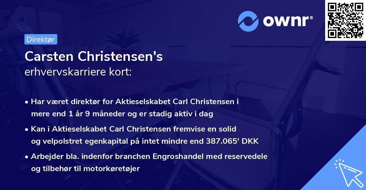 Carsten Christensen's erhvervskarriere kort