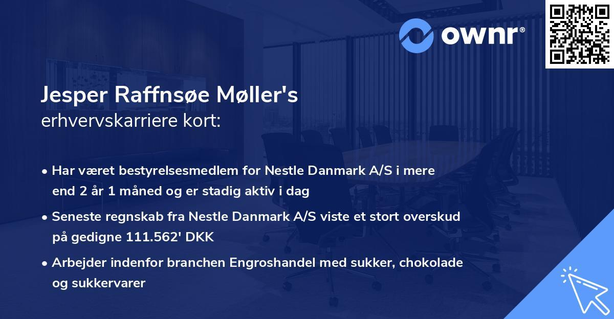 Jesper Raffnsøe Møller's erhvervskarriere kort