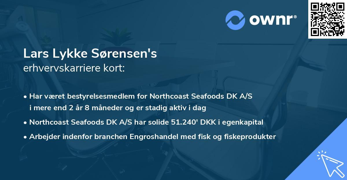 Lars Lykke Sørensen's erhvervskarriere kort