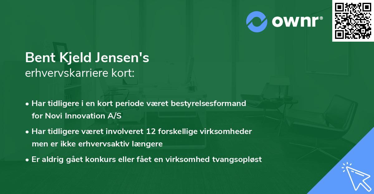 Bent Kjeld Jensen's erhvervskarriere kort