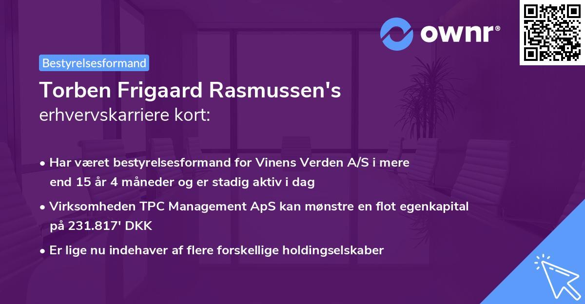 Torben Frigaard Rasmussen's erhvervskarriere kort