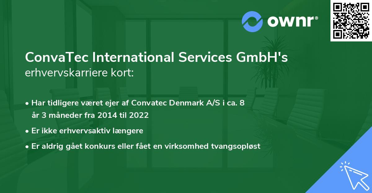 ConvaTec International Services GmbH's erhvervskarriere kort