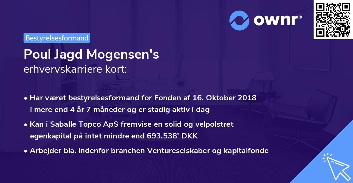 Poul Jagd Mogensen's erhvervskarriere kort