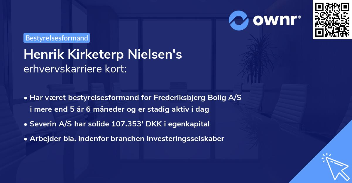 Henrik Kirketerp Nielsen's erhvervskarriere kort